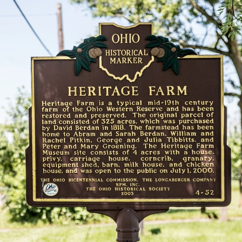 Heritage Farm Marker image. Click for full size.