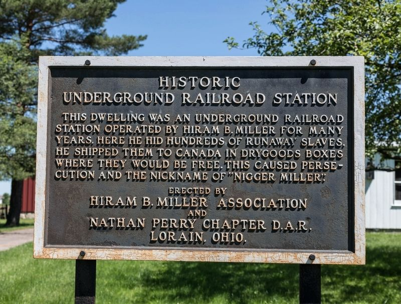 Historic Underground Railroad Station Marker image. Click for full size.