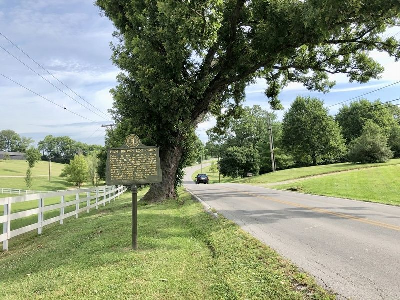 Vied of marker looking north on KY-55. image. Click for full size.