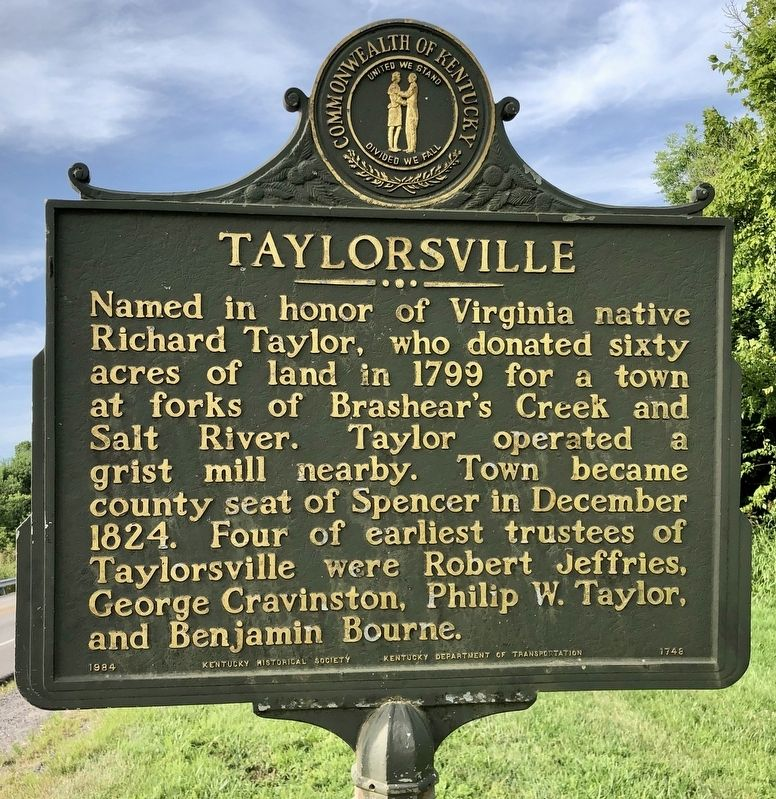 Taylorsville Marker image. Click for full size.