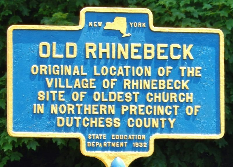 Old Rhinebeck Marker image. Click for full size.