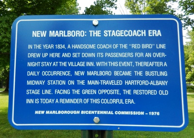 New Marlborough: The Stagecoach Era Marker image. Click for full size.