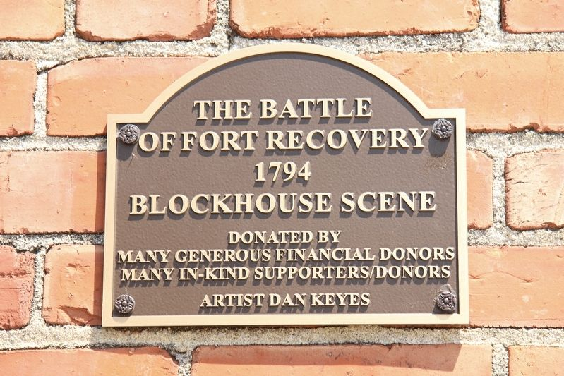 The Battle of Fort Recovery Marker image. Click for full size.