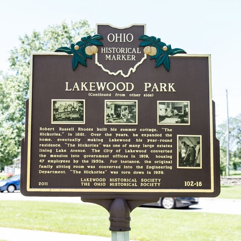 Lakewood Park Marker, side two image. Click for full size.