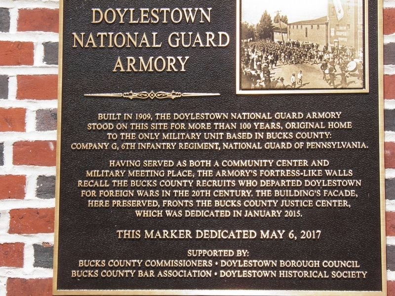 Doylestown National Guard Armory Marker image. Click for full size.