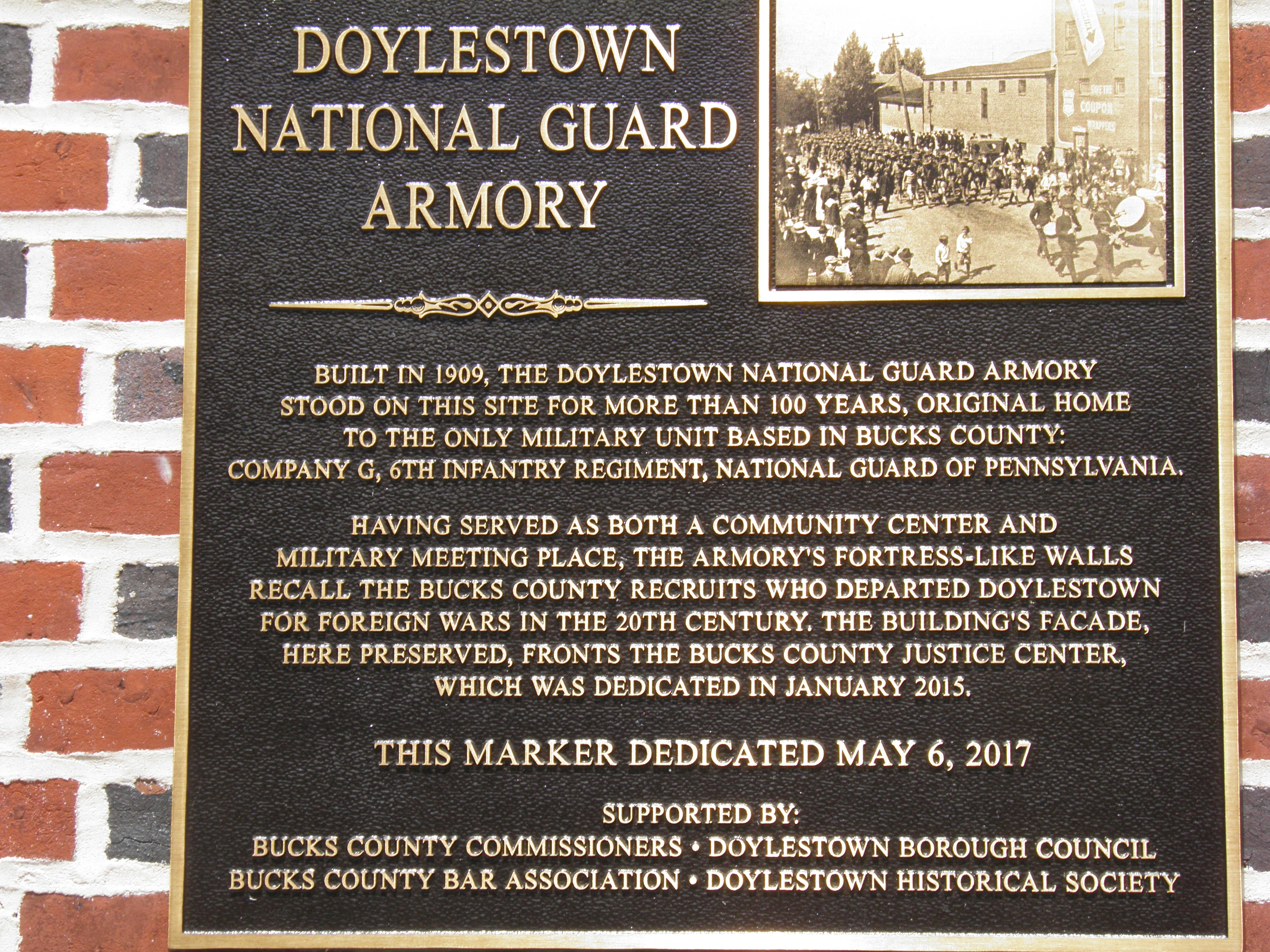 Doylestown National Guard Armory Marker