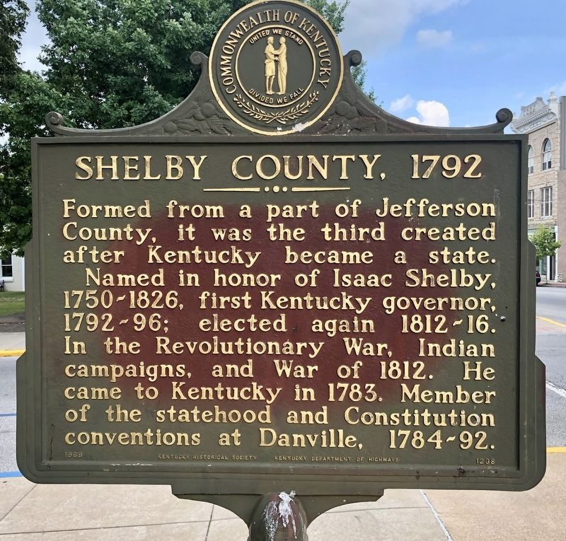 Shelby County, 1792 Marker image. Click for full size.