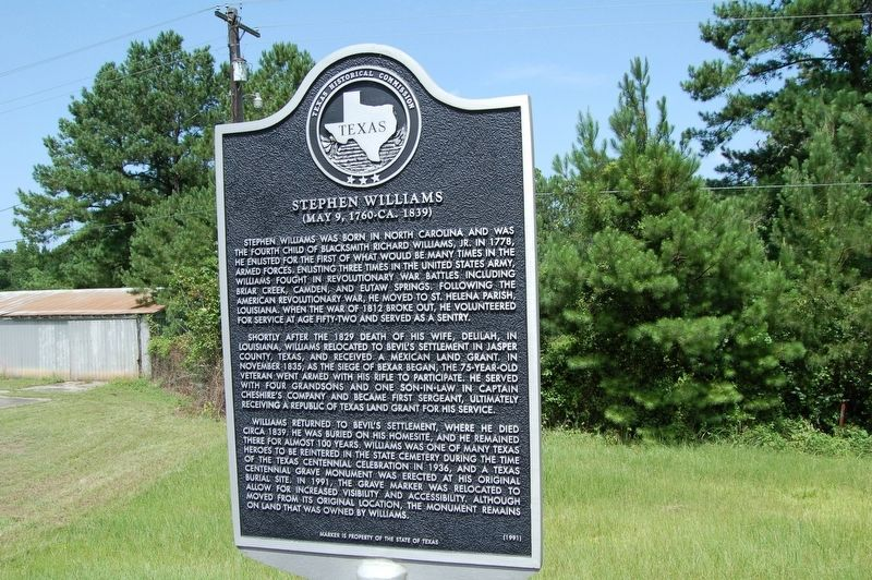 Stephen Williams Marker image. Click for full size.