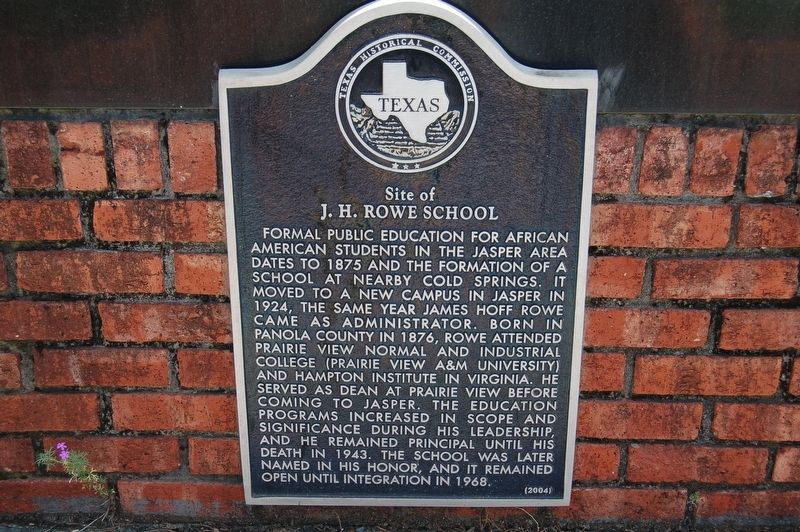 <small>Site of</small> J.H. Rowe School Marker image. Click for full size.
