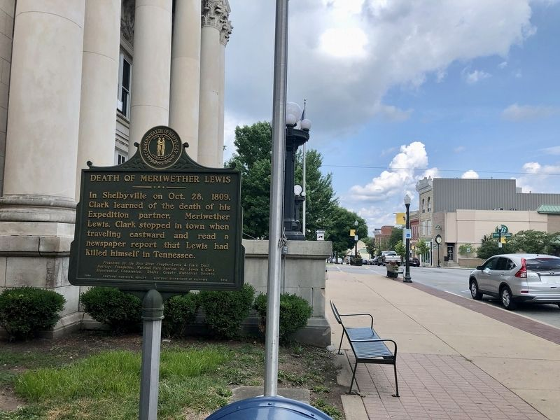 View from marker looking east on Main Street. image. Click for full size.