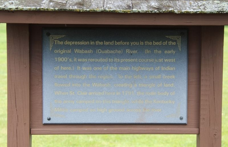 The Wabash (Ouabache) River Marker image. Click for full size.