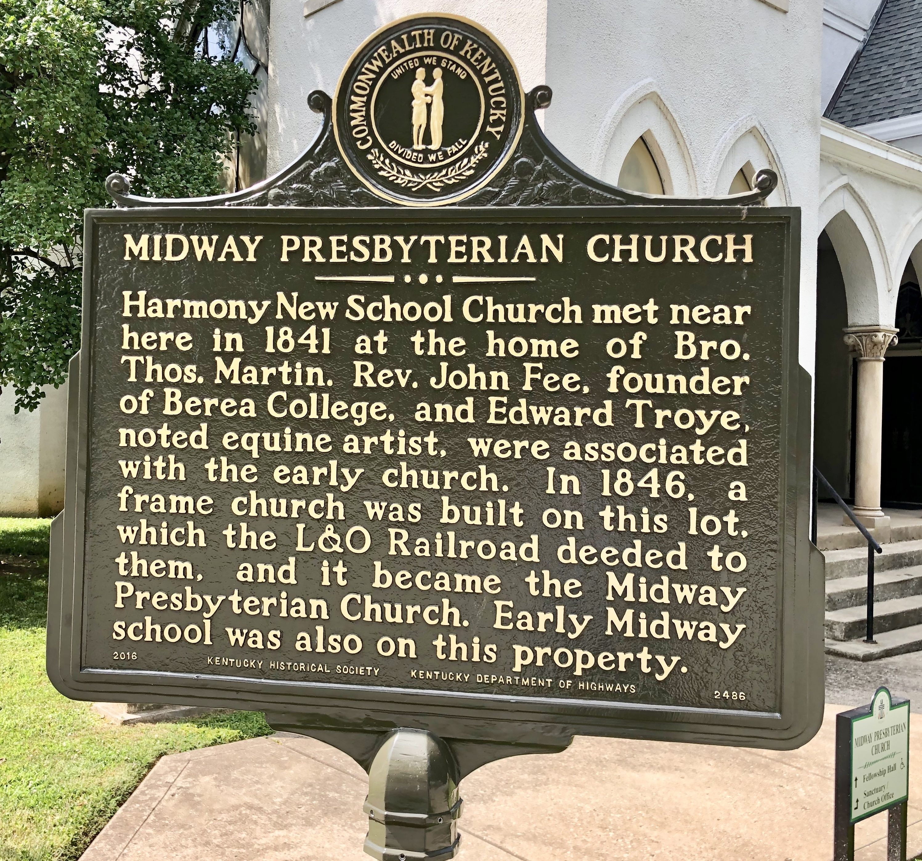 Midway Presbyterian Church Marker (front)