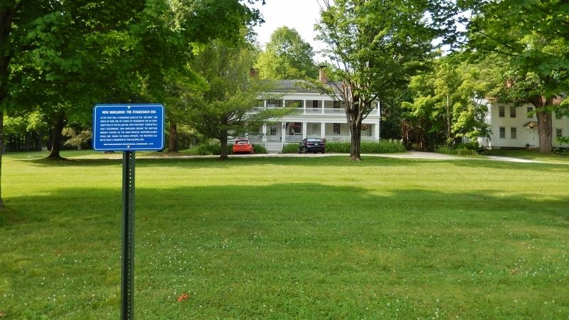 New Marlborough: The Stagecoach Era Marker<br>(<i>wide view • Old Inn in background</i>) image. Click for full size.