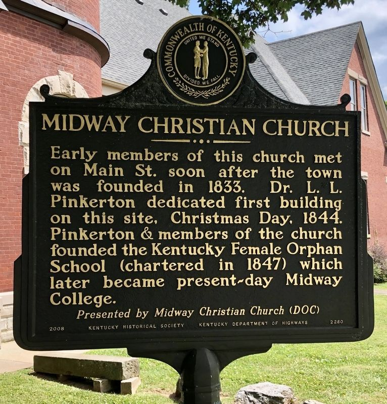 Midway Christian Church Marker image. Click for full size.