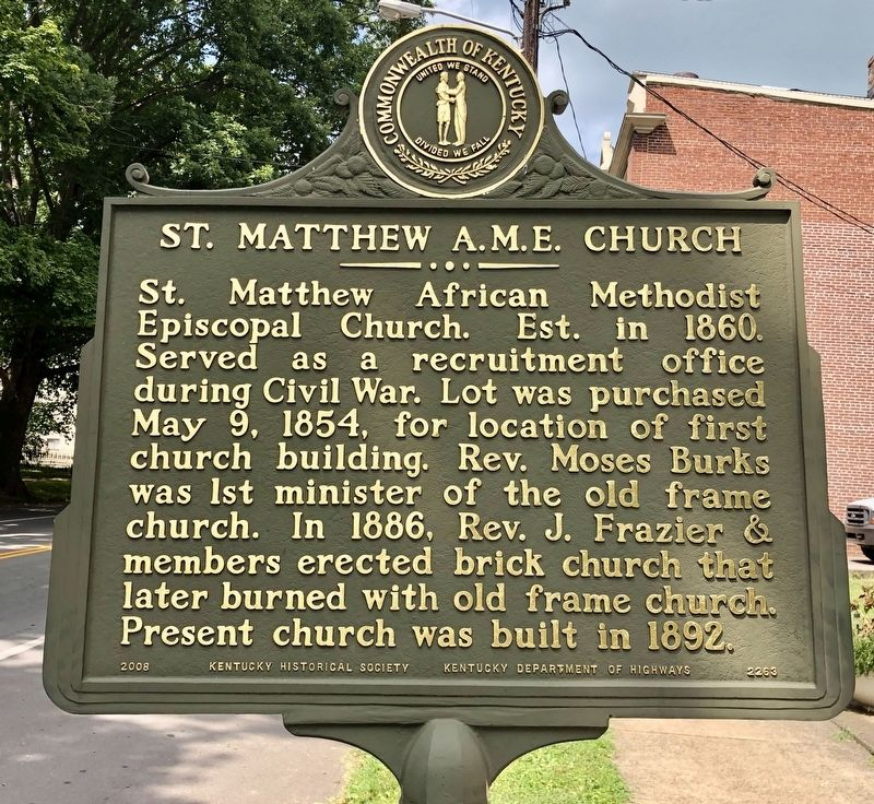 St. Matthew A.M.E. Church Marker image. Click for full size.