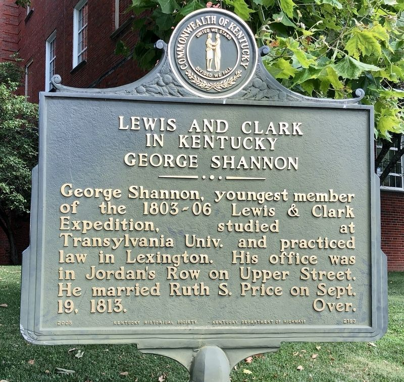 Lewis and Clark in Kentucky George Shannon Marker image. Click for full size.