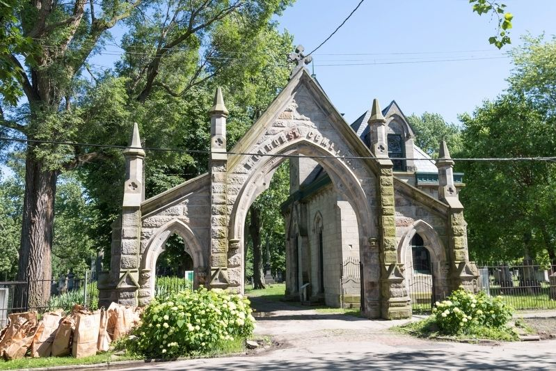 Monroe Street Cemetery Archway Entrance image. Click for full size.