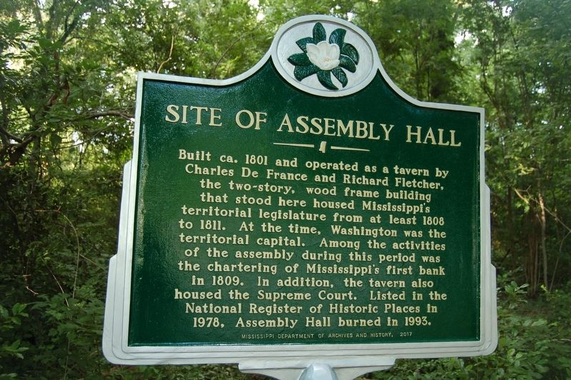 Site of Assembly Hall Marker image. Click for full size.