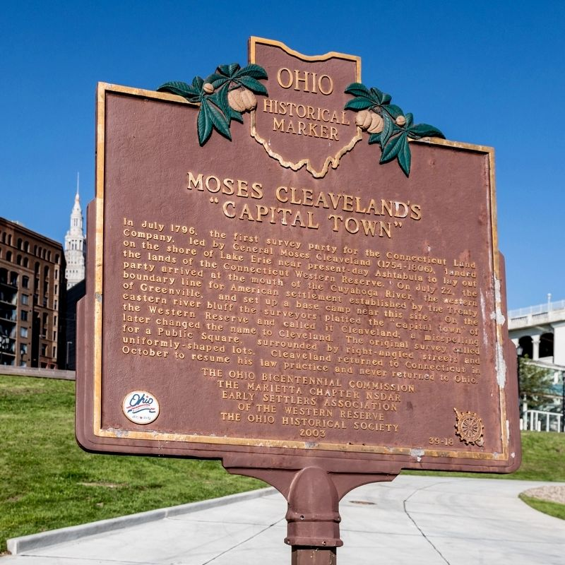"Moses Cleaveland's ""Capital Town"" Marker image. Click for full size."