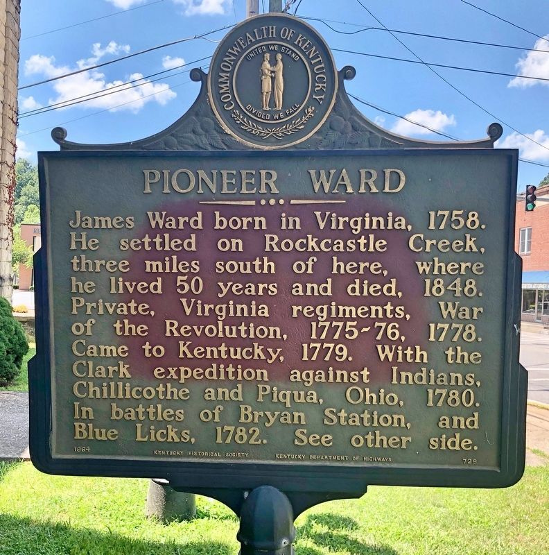 Pioneer Ward Marker image. Click for full size.
