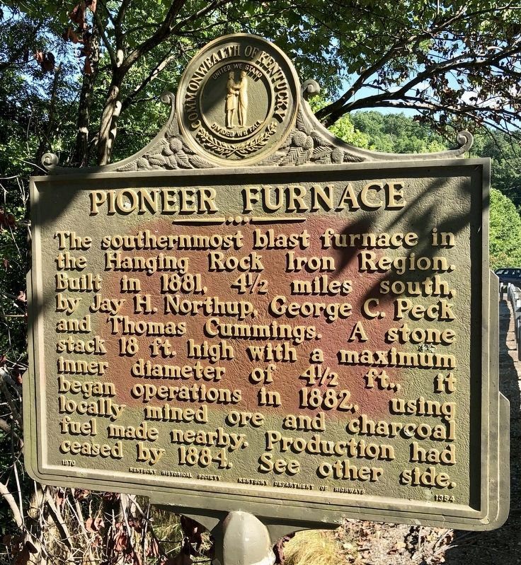 Pioneer Furnace Marker image. Click for full size.