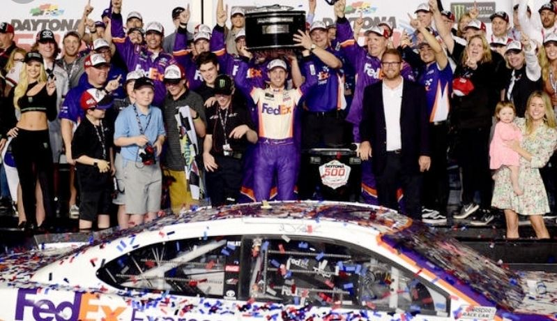 Denny Hamlin Winner 2019 Daytona 500 image. Click for full size.
