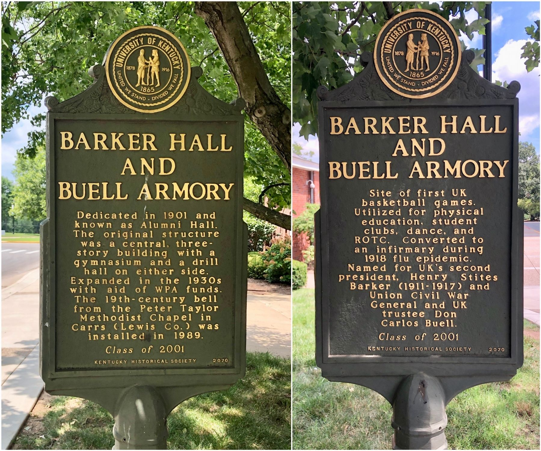 Barker Hall and Buell Armory Marker image. Click for full size.