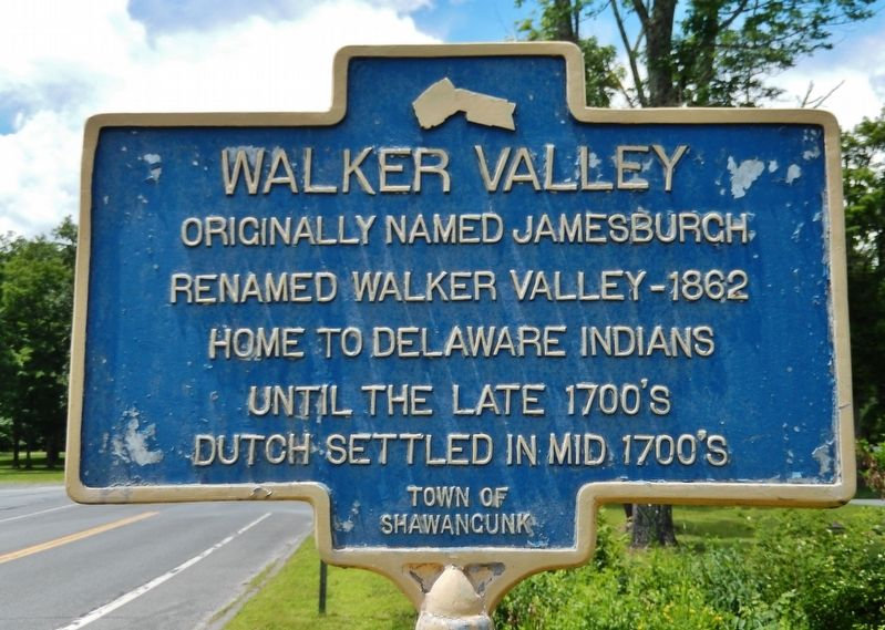 Walker Valley Marker image. Click for full size.