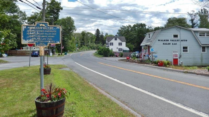 Walker Valley Marker<br>(<i>view looking east along NY Route 52 • Marl Road on left</i>) image. Click for full size.