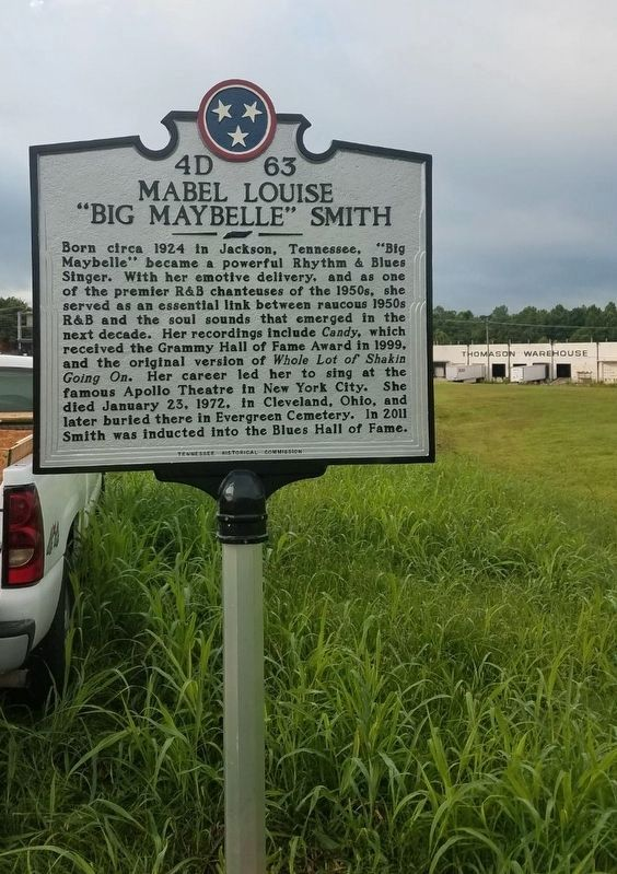 "Mabel Louise ""Big Maybelle"" Smith Marker - two days prior to dedication image. Click for full size."
