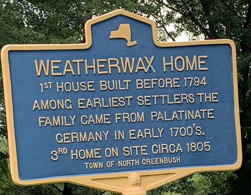 Weatherwax Home Marker image. Click for full size.