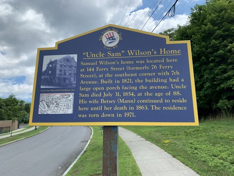 """Uncle Sam"" Wilson's Home Marker image. Click for full size."