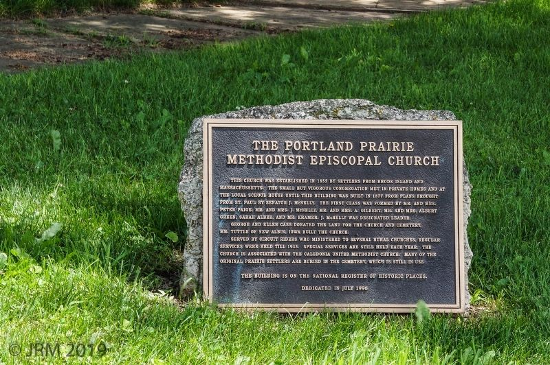 The Portland Prairie Methodist Episcopal Church Marker image. Click for full size.