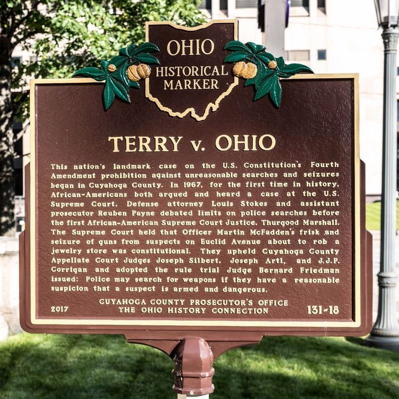 Terry v. Ohio Marker image. Click for full size.