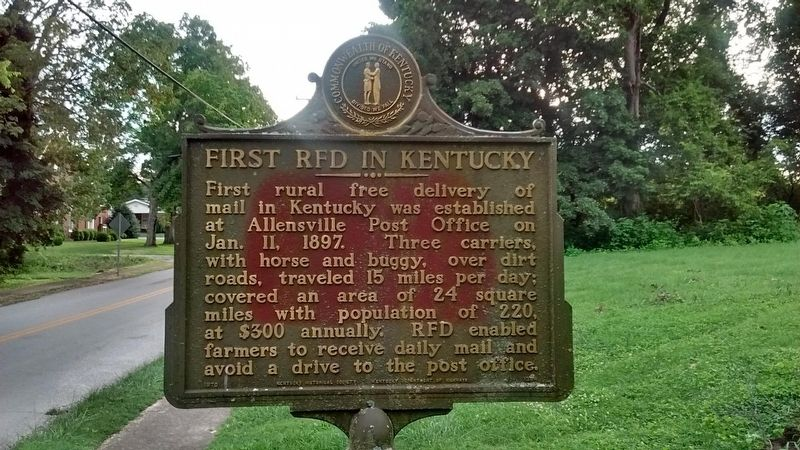First RFD in Kentucky Marker image. Click for full size.