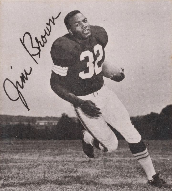 Jim Brown in 1961 image. Click for full size.
