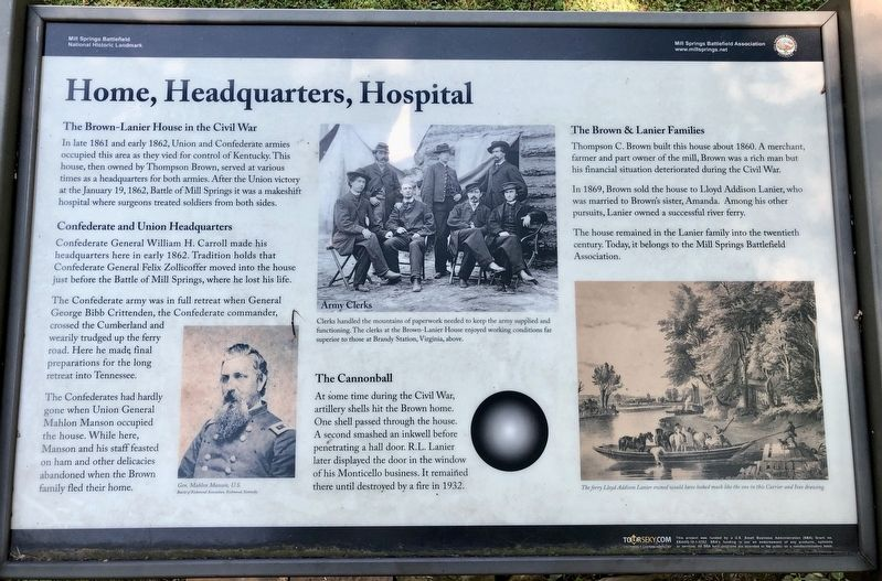 Home, Headquarters, Hospital Marker image. Click for full size.