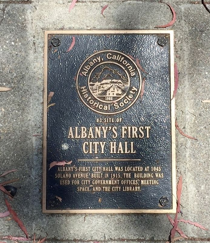 Site of Albany's First City Hall Marker image. Click for full size.