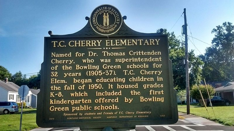 T. C. Cherry Elementary Marker (Side 1) image. Click for full size.