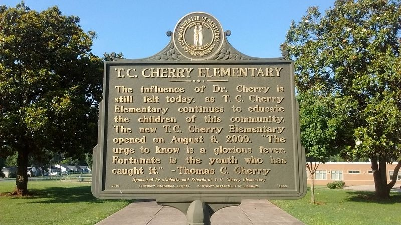 T. C. Cherry Elementary Marker (Side 2) image. Click for full size.