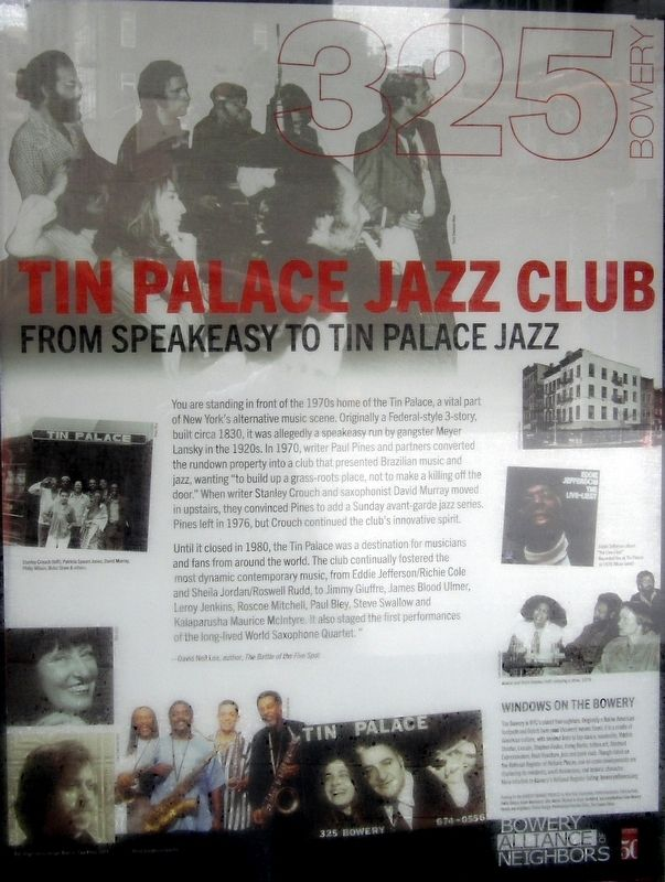 Tin Palace Jazz Club Marker image. Click for full size.