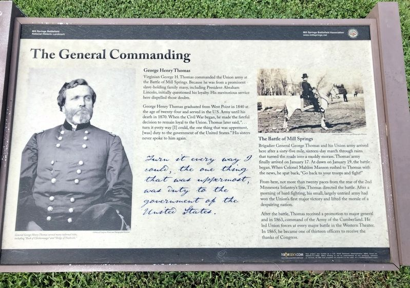 The General Commanding Marker image. Click for full size.