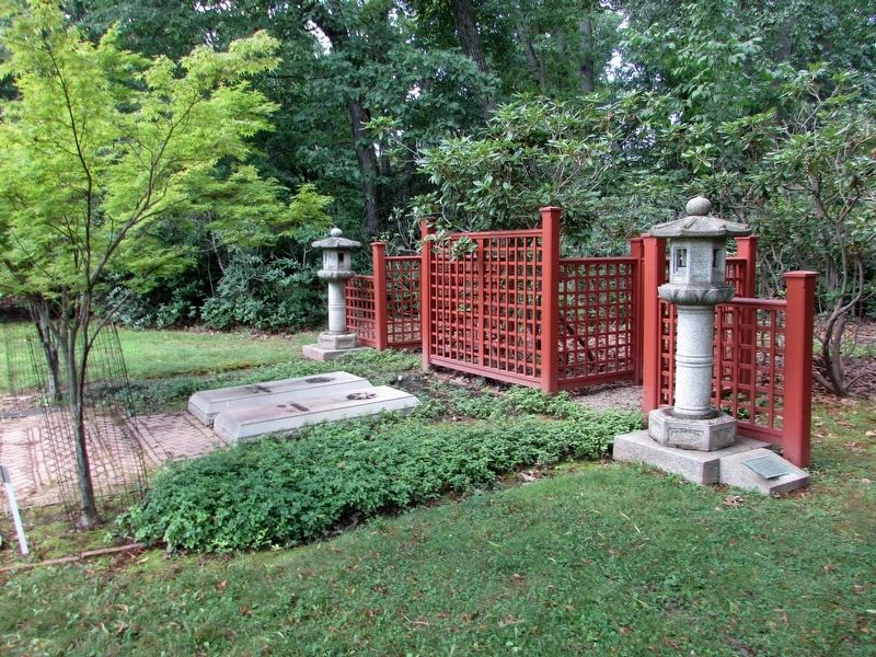 Japanese Stone Lanterns at Edison's Grave image. Click for full size.