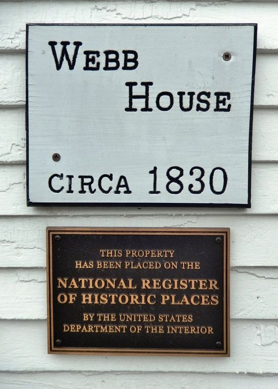 Webb House, circa 1830 Marker image. Click for full size.