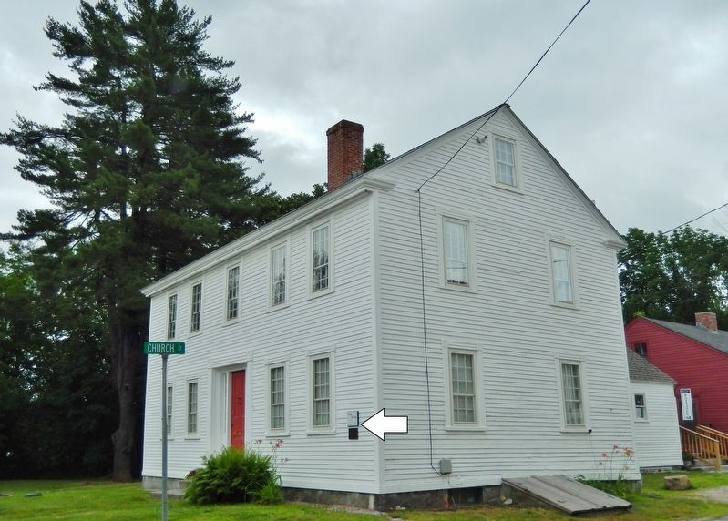 Webb House, circa 1830 Marker<br>(<i>wide view • marker at northwest corner of Webb House</i>) image. Click for full size.