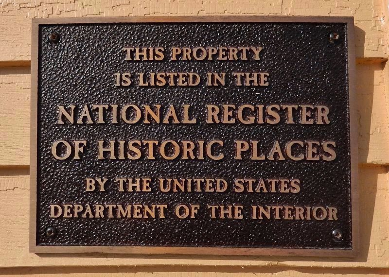 National Register of Historic Places plaque<br>(<i>mounted on wall • left of entrance</i>) image. Click for full size.