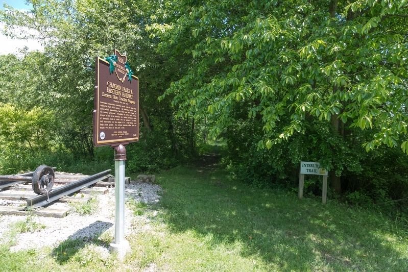 Chagrin Falls & Eastern Railway Marker image. Click for full size.