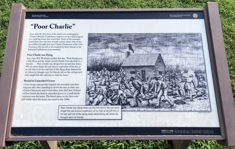 """Poor Charlie"" Marker image. Click for full size."
