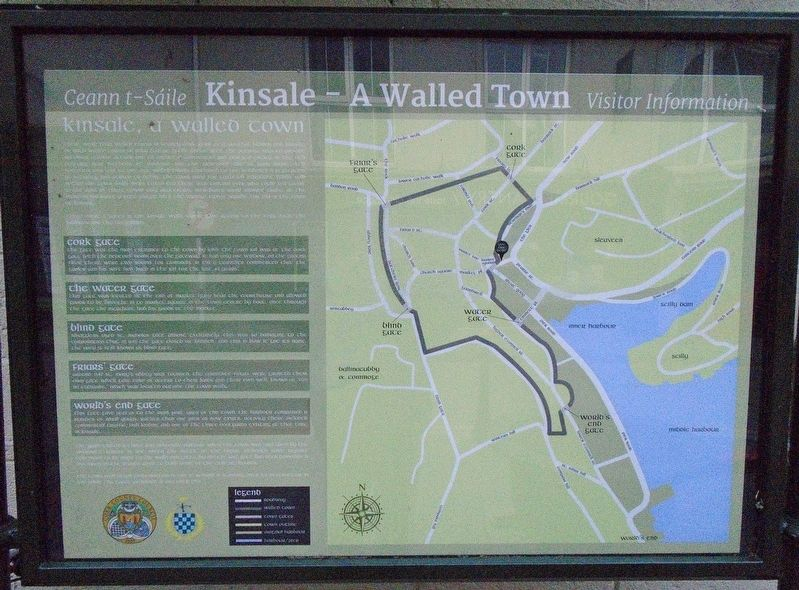 Kinsale - A Walled Town Marker image. Click for full size.