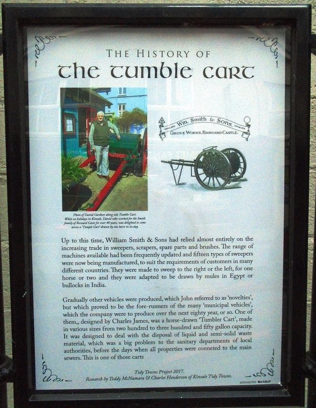 The History of The Tumble Cart Marker image. Click for full size.
